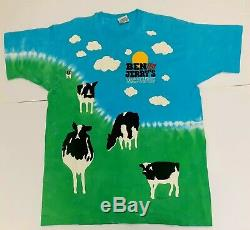 Ben and Jerrys Euphoria VTG XL Chunky Dunky LIQUID BLUE Tie Dye Shirt Nike SB
