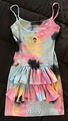 Betsey Johnson Archives Tie Dye Ruffles Bustle Slip Dress Pastel Candy Goth Rave