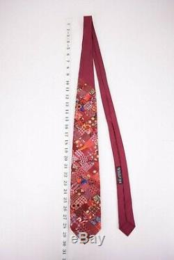 Brioni Patchwork Silk Neck Tie In Red With Multicolor Patches