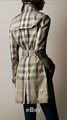 Burberry Brit Mid Length Natural Check Trench Coat