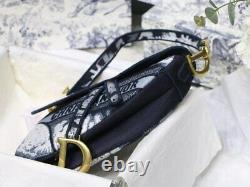 CHRISTIAN DIOR Canvas Tie Dye Saddle Bag Blue Multicolor