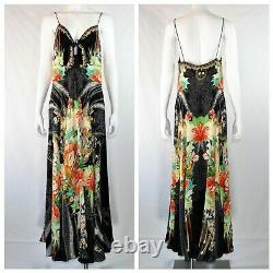 Camilla Franks Long Dress with Tie Front Queen Of Kings Spaghetti Straps Silk