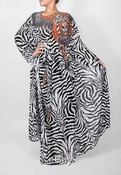 Camilla Franks The Fiera Long Boat Neck Kaftan Dress with Tie Belt