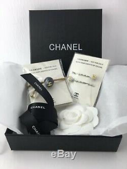 Chanel VIP Bonus Box Gift Set Hair Pins Bobble Elastic Tie Camelia Ribbon Tissue