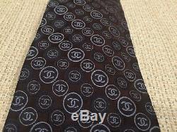 Chanel mens logo tie, multi-color, monogram CC logos, very rare