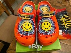 Chinatown Market x Crocs Tie Dye Smiley 206538-99V Men's Size 13 ComplexCon