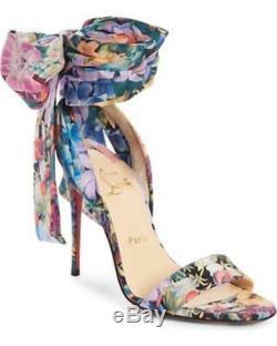 Christian Louboutin SANDALE DU DESERT Flower Ankle Tie Bow Heel Pumps Shoes $895