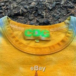 Comme Des Garcons CDG Brain Dead Dimensions Tie Dye Tee Shirt Size XL Fits S/M