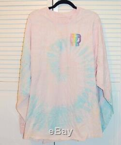Cotton Candy Spirit Jersey Adult XXL Walt Disney World Pastel Tie Dye Glitter