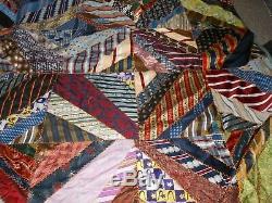 Crazy Quilt Vintage Ties 90 X 90