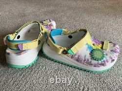 Crocs Classic Hiker Peace Out Womens 9 Mens 7 Clogs Limited Edition Tie Dye