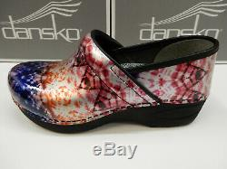 Dansko Womens XP 2.0 Metallic Tie Dye Patent 38