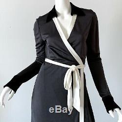 Diane Von Furstenberg NWT DVF Abigail Silk Wrap Maxi Dress Size 8