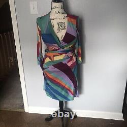 Diane Von Furstenberg Vintage Diana Wonder Woman Silk Wrap Dress Us 8