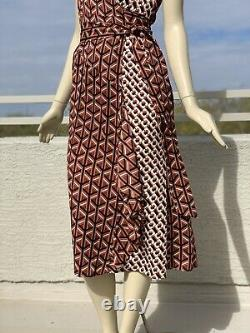 Diane von Furstenberg Moira Silk-Blend Midi Dress US2-4