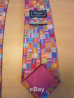 Duchamp, London Multi Color All Silk Mens Neck Tie
