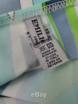EMILIO PUCCI NWOT Multi Color Ring Embellished Halter Tie Mini Dress Sz 46/ 10US