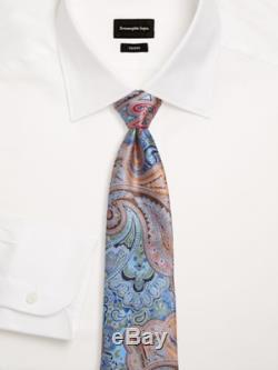 ERMENEGILDO ZEGNA Limited Edition QUINDICI Blue, Orange, Green Silk Tie NWT Auth