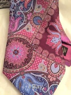 ERMENEGILDO ZEGNA Limited Edition QUINDICI Pink Silk Tie NWT SAKS $285