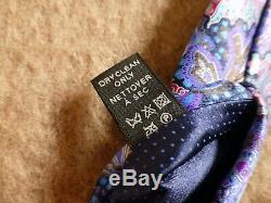 ERMENEGILDO ZEGNA QUINDICI Multicolor Blue Purple Red Paisley Silk Tie Italy