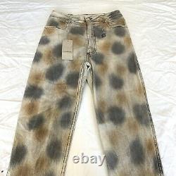 Eckhaus Latta Womens El Tie Dye Straight Leg Jeans in Dirty Dye Size 29 $350