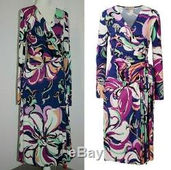 Emilio Pucci wrap-effect Aruba printed stretch-jersey dress US 10-12/IT 46 $1310