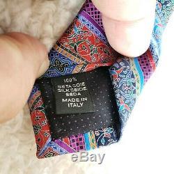 Ermenegildo Zegna Italy Quindici Collection No 121 Silk Mens Multicolor Necktie