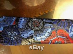 Ermenegildo Zegna Quindici Blue & Multi-color Flower Tie