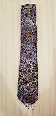 Ermenegildo Zegna Quindici Limited Edition Pink & Multi-color Paisley Tie NEW