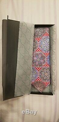 Ermenegildo Zegna Quindici Limited Edition Red & Multi-color Paisley Tie NEW