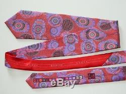 Ermenegildo Zegna Quindici Silk Neck Tie Red With Multicolor Paisley Dis N. 111