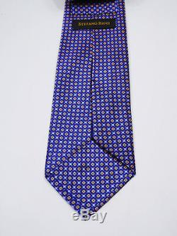 Eye Catching Luxury Stefano Ricci Micro Dots Smooth Silk Tie L 63.5 X W 3.75