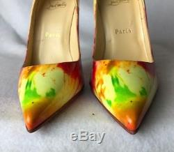 FLASH SALE! Christian Louboutin So Kate Patent Tie and Dye Pumps Euro 37.5