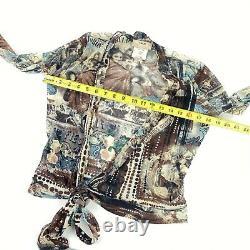 FUZZI Jean Paul Gaultier Women's Plaza De Torros Wrap Shirt/Blouse SMALL