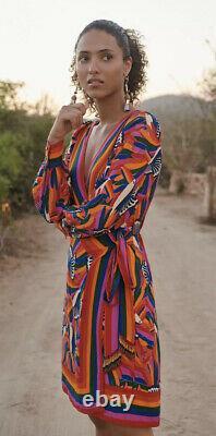 Farm Rio for Anthropologie Toucan Wrap Mini Dress NWT Small