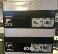 Fila Disruptor II Platform Shoes Tie Dye Multicolor Pride Women's Sz 8 & 8.5 NIB