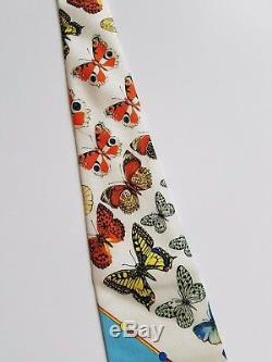 GIANNI VERSACE RARE 1995 Vintage Couture Italy Silk Iconic Butterfly Print Tie