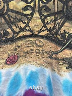 GRATEFUL DEAD 90s Concert T-Shirt VTG 1965- 1995 Liquid Blue Tie Dye 30 Year XL
