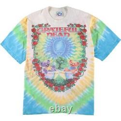 GRATEFUL DEAD T-Shirt Size XL Tie Dye Multicolor Cotton LIQUID BLUE Vintage 90's