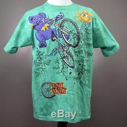 GRATEFUL DEAD T-shirt Dead Treads Bears VTG Tie Dye 1995 Green XL Made in USA