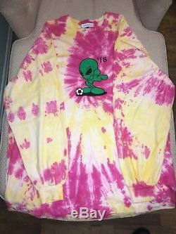 Gosha Rubchinskiy oversized long sleeve alien tie dye