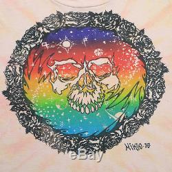 Grateful Dead Shirt Vintage tshirt 1980 Mikio Kennedy Tie Dye Skull tee 1980s