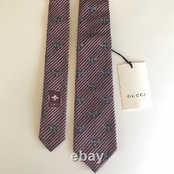 Gucci New Skinny Bee Tie Necktie
