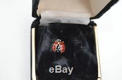 Handsome 14k Gold & Enamel Lady Bug Tie Tack Pin Fine Craftsmanship