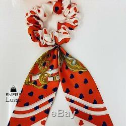 Hermes Brides De Gala Love Twilly Heart Orange Hair Ties Ponytail Holders Rare