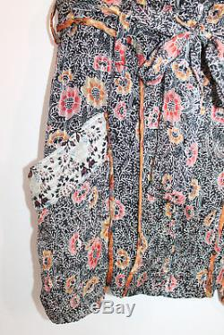 Isabel Marant Ariana Silk Floral Tie Waist Boho Festival Mini Skirt FR 36 US 4