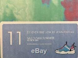 John Geiger 002 Low E11even Tie-Dye Size 11 Mens Withreceipt