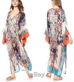 Johnny Was Heiho Lane Kimono Dress silk bohemian rose couture Hawaii M/L/$495