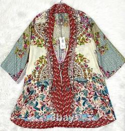 Johnny Was Jade Kimono Duster Long Jacket Sz XS Oversize NWT $298
