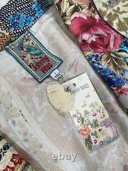 Johnny Was Prima Silk Kimono Duster Robe Long Jacket Sz L NWT $595